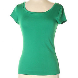 The Limited Green Scoop Neck T-Shirt - Large